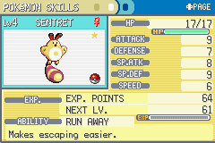 Pokemon Liquid Ocean - Shiny Sentret - User Screenshot